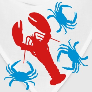 Lobster and Blue Crabs. - Bandana