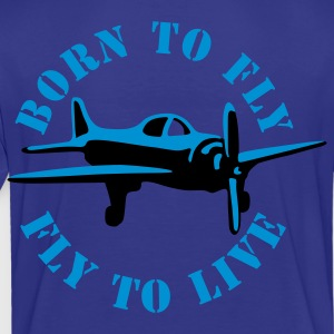 Turquoise born_to_fly_2c Kids' Shirts - Toddler Premium T-Shirt