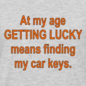 Heather grey gettinglucky T-Shirts - Men's Premium Long Sleeve T-Shirt