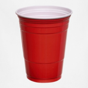 Beer Pong Red Plastic Cup T-Shirt - Adjustable Apron