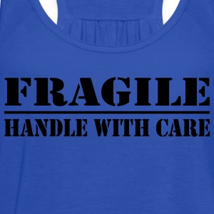 Turquoise fragile Kids' Shirts - Women's Flowy Tank Top by Bella