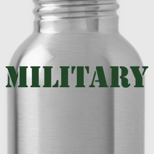 MILITARY in stencil T-Shirts - Water Bottle