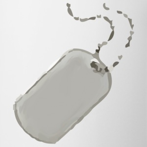 White dog tag T-Shirts - Coffee/Tea Mug