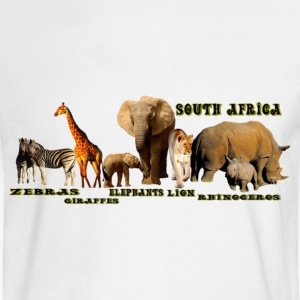 South African Wildlife Collage - Men's Long Sleeve T-Shirt