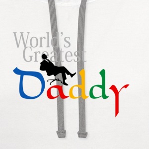 World Greatest Daddy - Contrast Hoodie