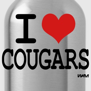 i love cougars by wam T-Shirts - Water Bottle