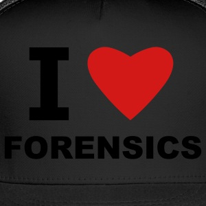 Black I love Forensics T-Shirts - Trucker Cap