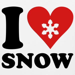 i love snow T-Shirts - Men's Premium Tank