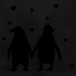 Penguins in love - love each other penguins T-Shirts - Men's Premium Tank