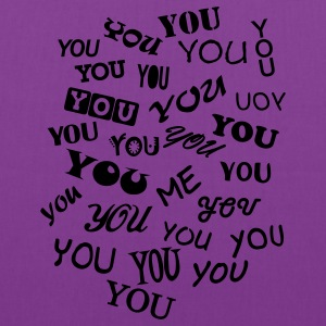 Purple you and me - typo T-Shirts - Tote Bag