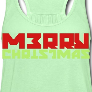 Kelly green merry soviet russian christmas T-Shirts - Women's Flowy Tank Top by Bella
