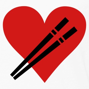 love chopstick heart T-Shirts - Men's Premium Long Sleeve T-Shirt