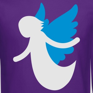 Purple angel flying with open arms T-Shirts - Crewneck Sweatshirt