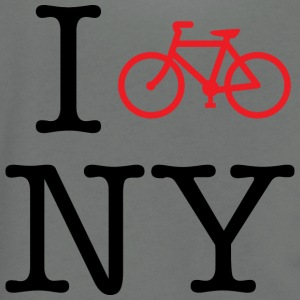 I Bike New York T-shirt - Unisex Fleece Zip Hoodie by American Apparel