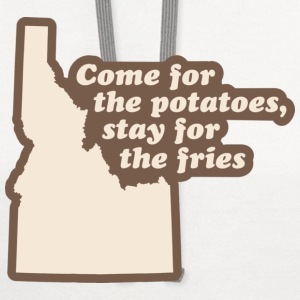 Idaho - Come for the Potatoes T-shirt - Contrast Hoodie