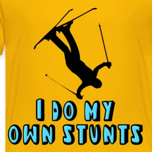 Skiing I Do My Own Stunts Kids' Shirts - Toddler Premium T-Shirt