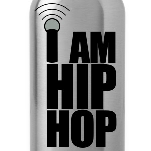 Black I Am Hip Hop T-Shirts - Water Bottle