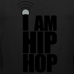 Black I Am Hip Hop T-Shirts - Men's Premium Tank