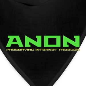 Anon Preserving Internet Freedom For Dark Shirt T-Shirts - Bandana