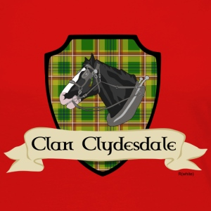 Red clan clydesdale shield T-Shirts - Women's Premium Long Sleeve T-Shirt