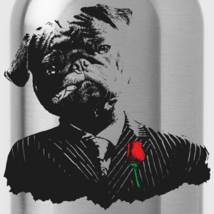 Mobster Pug - Water Bottle