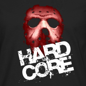 Black Hardcore Mask T-Shirts - Men's Premium Long Sleeve T-Shirt