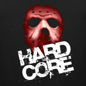 Black Hardcore Mask T-Shirts - Men's Premium Tank