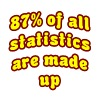 White 87% Of All Statistics Are Made Up T-Shirts - Men's Premium T-Shirt