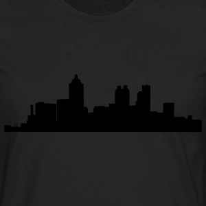 Black atlanta_skyline Plus Size - Men's Premium Long Sleeve T-Shirt