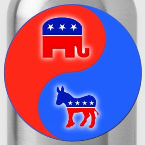Republican Democrat Yin Yang T-Shirts - Water Bottle