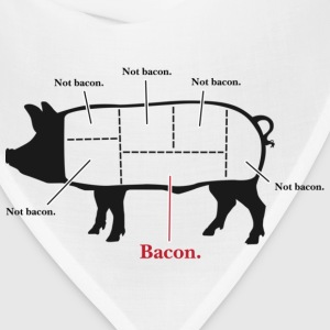 Not Bacon T-shirt - Bandana