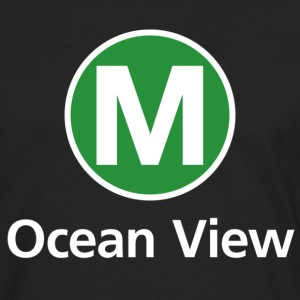 Muni M Ocean View T-shirt - Men's Premium Long Sleeve T-Shirt