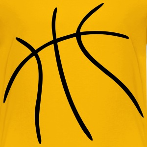 Yellow Basketball Kids' Shirts - Toddler Premium T-Shirt