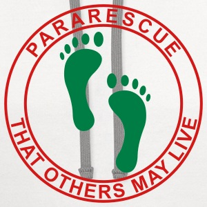 White Pararescue Feet - Flex T-Shirts - Contrast Hoodie