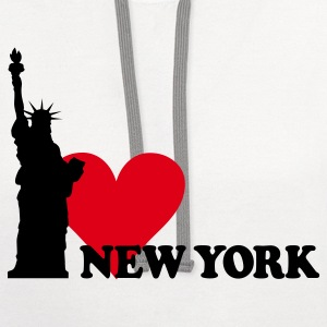 I LOVE NEW YORK T-Shirts - Contrast Hoodie