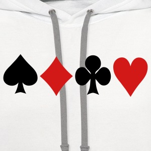 Cards T-Shirts - Contrast Hoodie