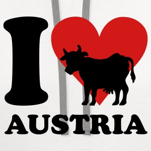 I Love Austria Cow T-Shirts - Contrast Hoodie