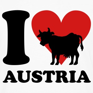 I Love Austria Cow T-Shirts - Men's Premium Long Sleeve T-Shirt