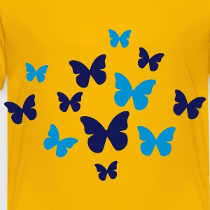 Yellow Butterflies Kids' Shirts - Toddler Premium T-Shirt