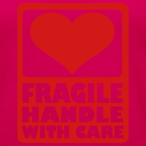 Hot pink Fragile Handle with care Kids' Shirts - Women's Premium Tank Top
