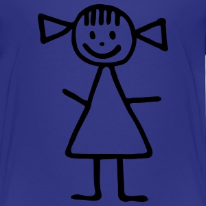 Royal blue Stickman - girl Kids' Shirts - Toddler Premium T-Shirt