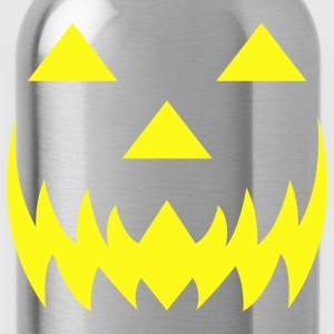 Glow in the dark jack-o-lantern. - Water Bottle