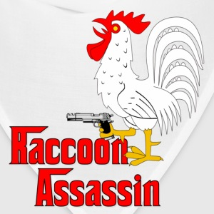 White Raccoon Assassin Rooster T-Shirts - Bandana