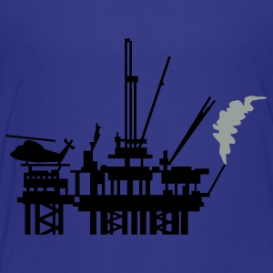 Turquoise offshore oil rig (2c) Kids' Shirts - Toddler Premium T-Shirt