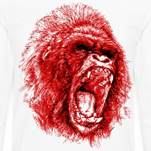 Gorilla Roaring Red ! - Men's Premium Long Sleeve T-Shirt