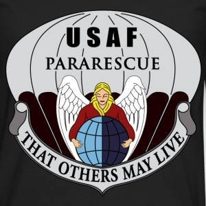Black Pararescue T-Shirts - Men's Premium Long Sleeve T-Shirt
