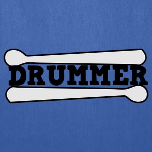 Turquoise drummer drums drum with drumsticks Kids' Shirts - Tote Bag
