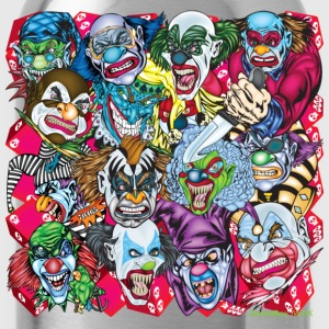 Black Evil Clowns All Over T-Shirts - Water Bottle