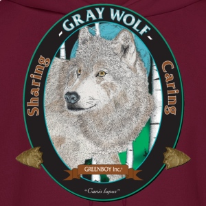 Burgundy Gray Wolf T-Shirts - Men's Hoodie