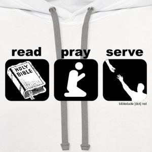 read. pray. serve. - Contrast Hoodie